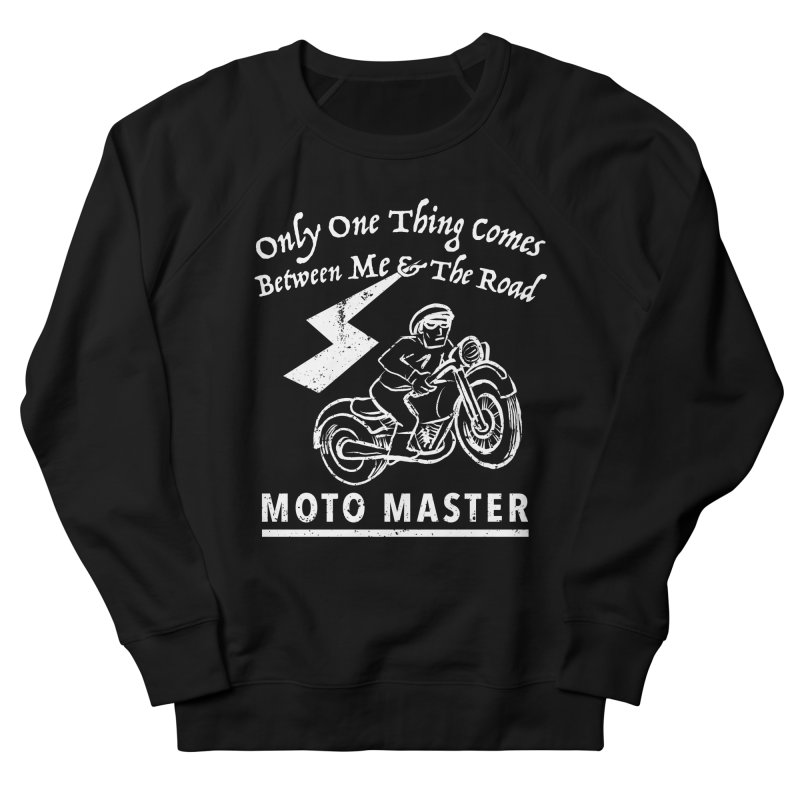 MOTO MASTER Women's French Terry Sweatshirt by STUDIO FORONDA DESIGN SHOP