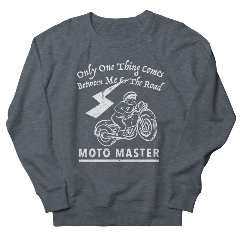 MOTO MASTER Men's French Terry Sweatshirt by STUDIO FORONDA DESIGN SHOP