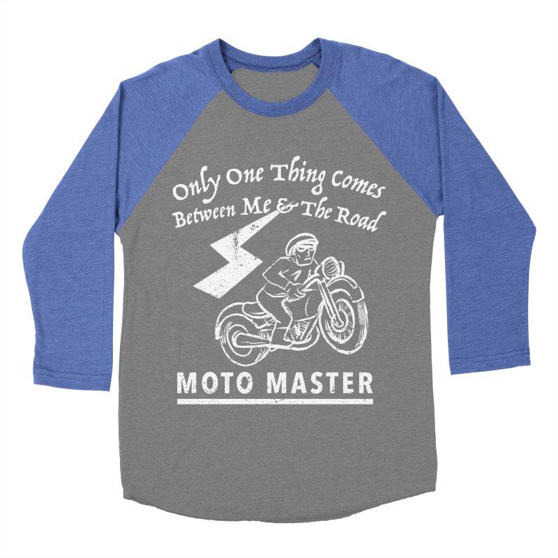 MOTO MASTER Men's Baseball Triblend Longsleeve T-Shirt by STUDIO FORONDA DESIGN SHOP
