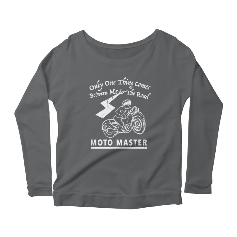 MOTO MASTER Women's Scoop Neck Longsleeve T-Shirt by STUDIO FORONDA DESIGN SHOP