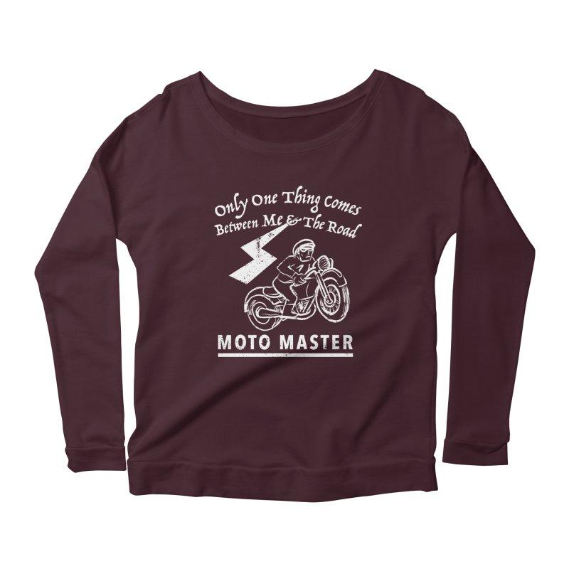 MOTO MASTER Women's Scoop Neck Longsleeve T-Shirt by STUDIO FORONDA DESIGN SHOP