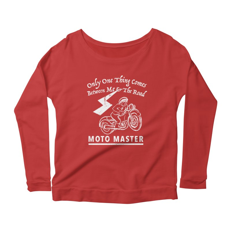 MOTO MASTER Women's Longsleeve Scoopneck  by STUDIO FORONDA DESIGN SHOP