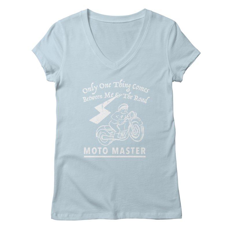 MOTO MASTER Women's V-Neck by STUDIO FORONDA DESIGN SHOP