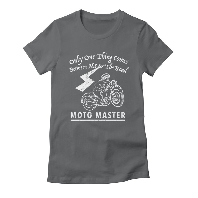MOTO MASTER Women's Fitted T-Shirt by STUDIO FORONDA DESIGN SHOP