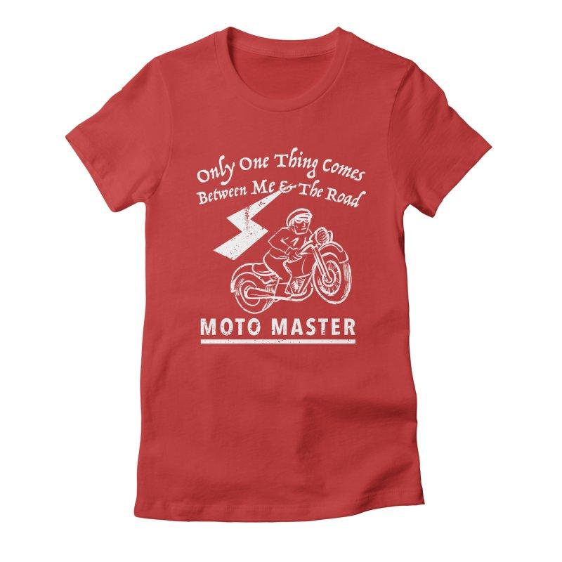 MOTO MASTER Women's Fitted T-Shirt by STUDIO FORONDA DESIGN SHOP