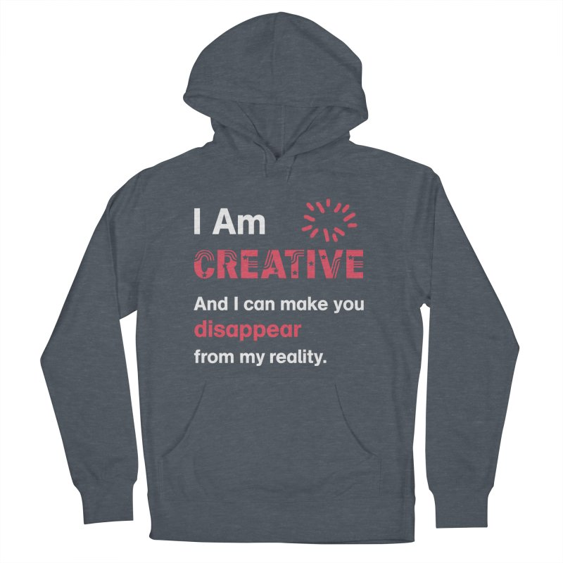 Creative Power Men's French Terry Pullover Hoody by STUDIO FORONDA DESIGN SHOP