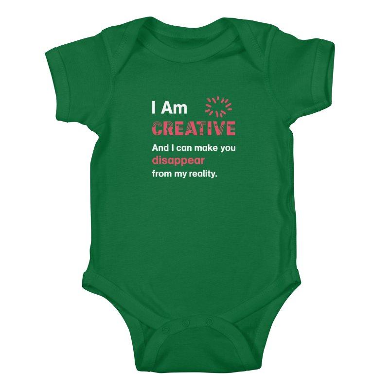 Creative Power Kids Baby Bodysuit by STUDIO FORONDA DESIGN SHOP
