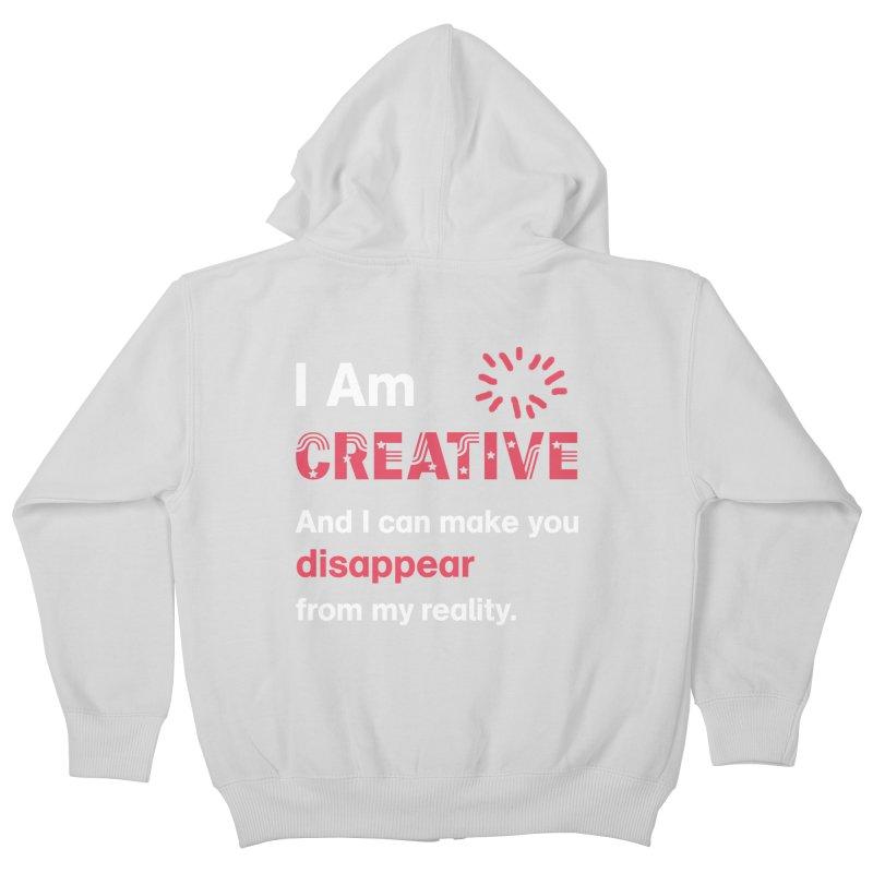 Creative Power Kids Zip-Up Hoody by STUDIO FORONDA DESIGN SHOP