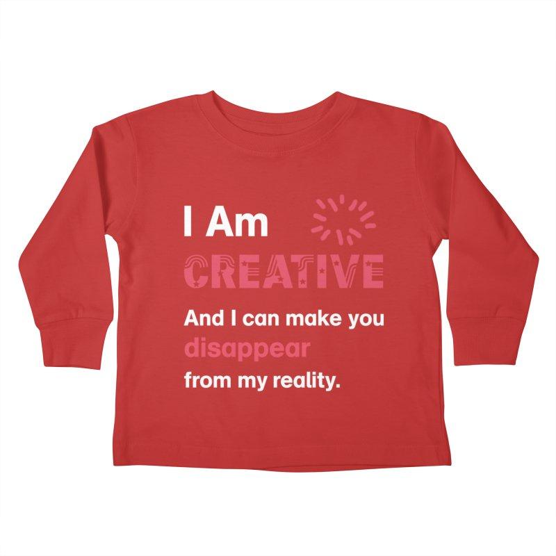Creative Power Kids Toddler Longsleeve T-Shirt by STUDIO FORONDA DESIGN SHOP