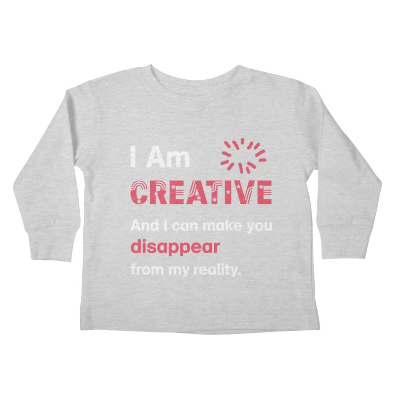 Creative Power Kids Toddler Longsleeve T-Shirt by STUDIO FORONDA DESIGN SHOP