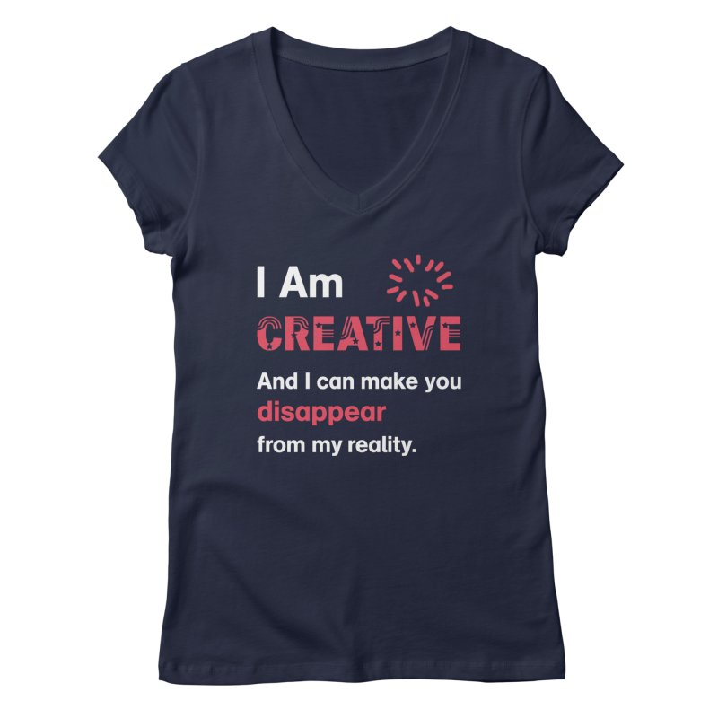 Creative Power Women's Regular V-Neck by STUDIO FORONDA DESIGN SHOP
