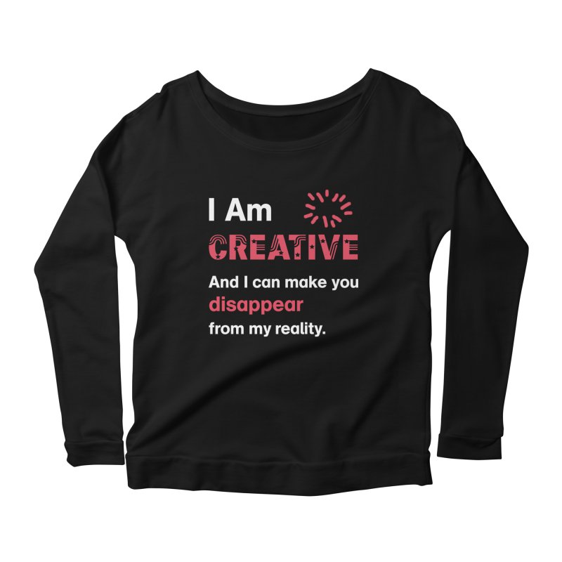 Creative Power Women's Scoop Neck Longsleeve T-Shirt by STUDIO FORONDA DESIGN SHOP