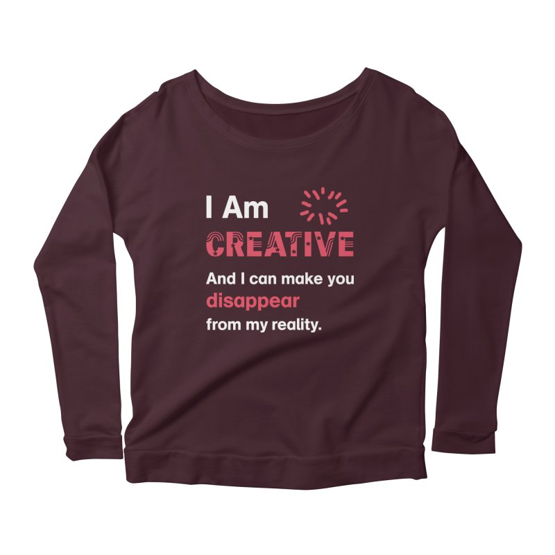 Creative Power Women's Longsleeve Scoopneck  by STUDIO FORONDA DESIGN SHOP