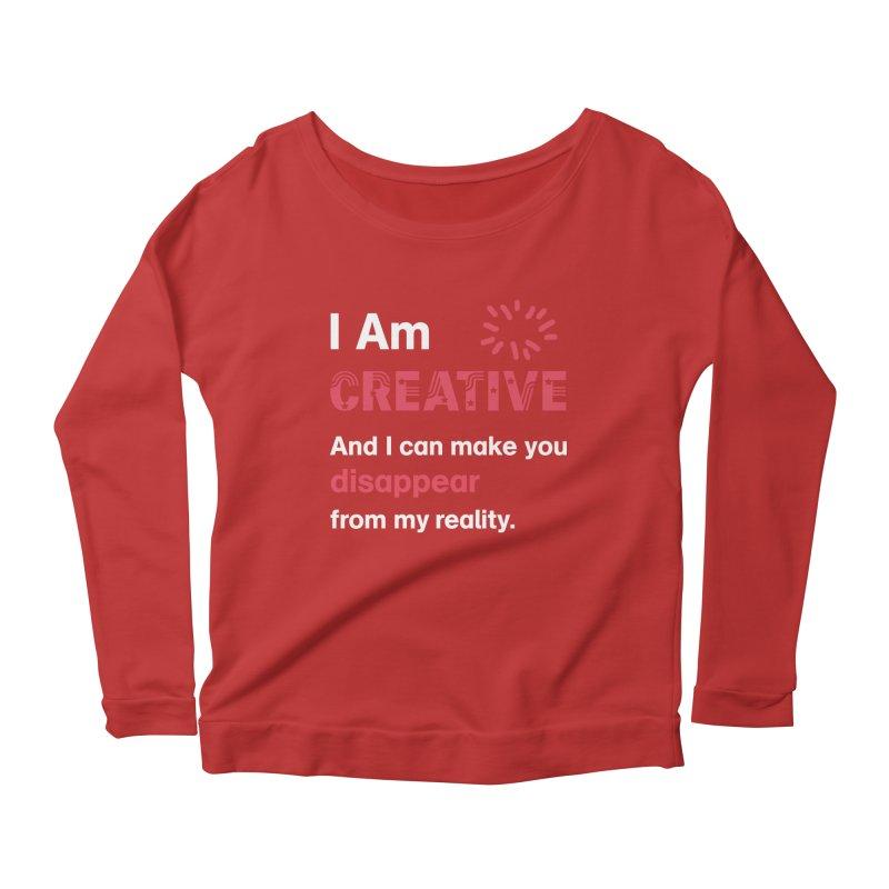 Creative Power Women's Scoop Neck Longsleeve T-Shirt by STUDIO FORONDA DESIGN SHOP