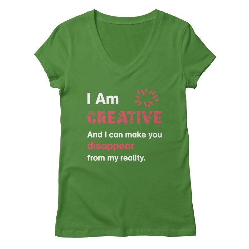 Creative Power Women's Regular V-Neck by STUDIO FORONDA DESIGN SHOP