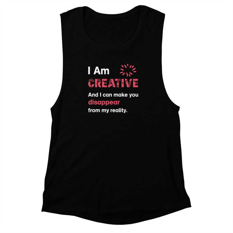 Creative Power Women's Muscle Tank by STUDIO FORONDA DESIGN SHOP