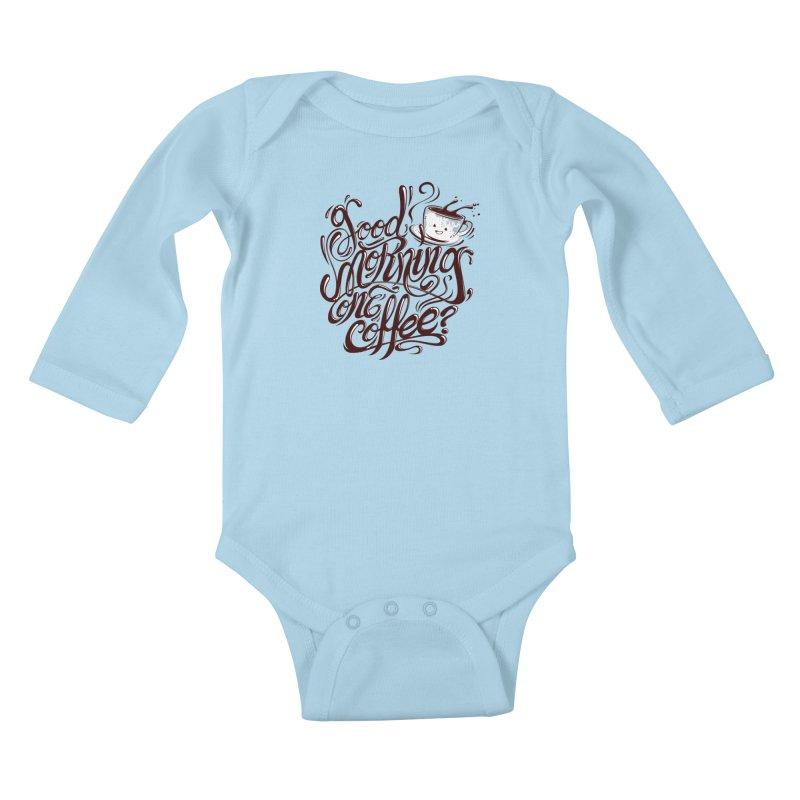 Good Morning Coffee Kids Baby Longsleeve Bodysuit by studiom6's Artist Shop