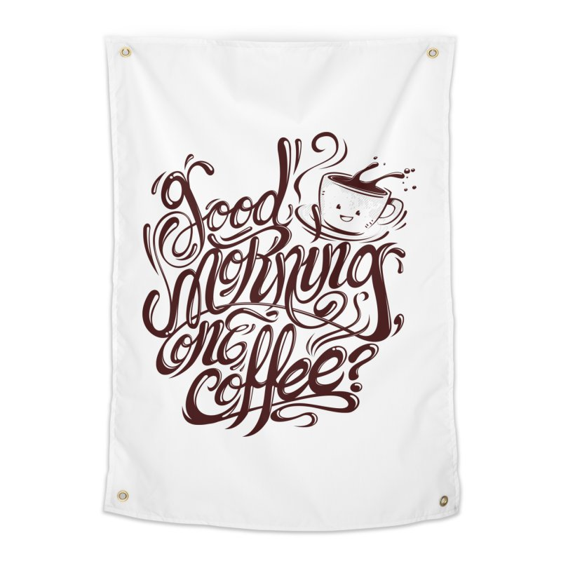 Good Morning Coffee Home Tapestry by studiom6's Artist Shop