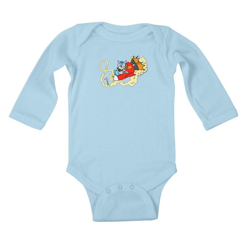 Rocket Who Kids Baby Longsleeve Bodysuit by studiomogura's Artist Shop