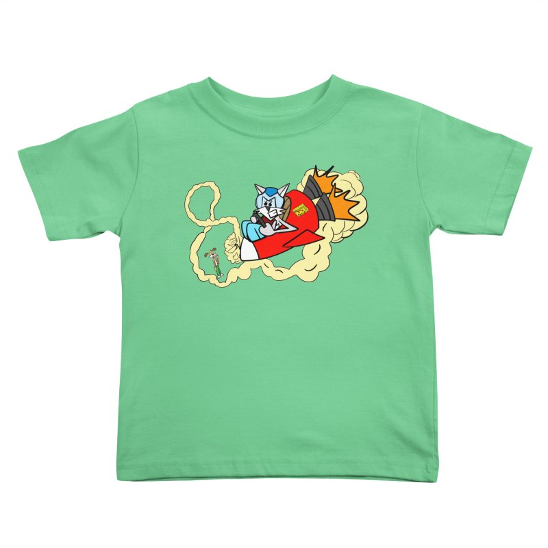 Rocket Who Kids Toddler T-Shirt by studiomogura's Artist Shop