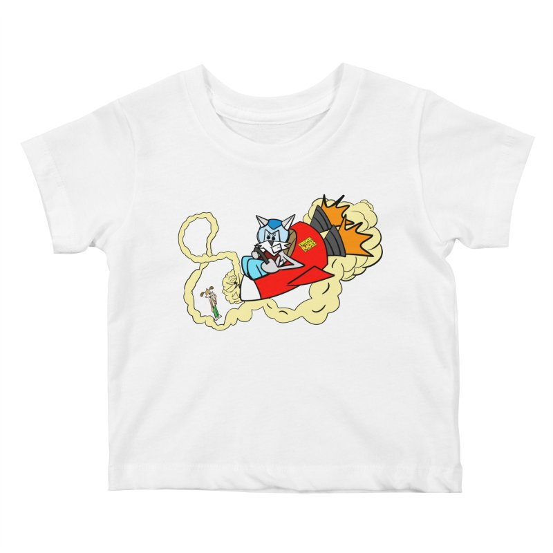 Rocket Who Kids Baby T-Shirt by studiomogura's Artist Shop
