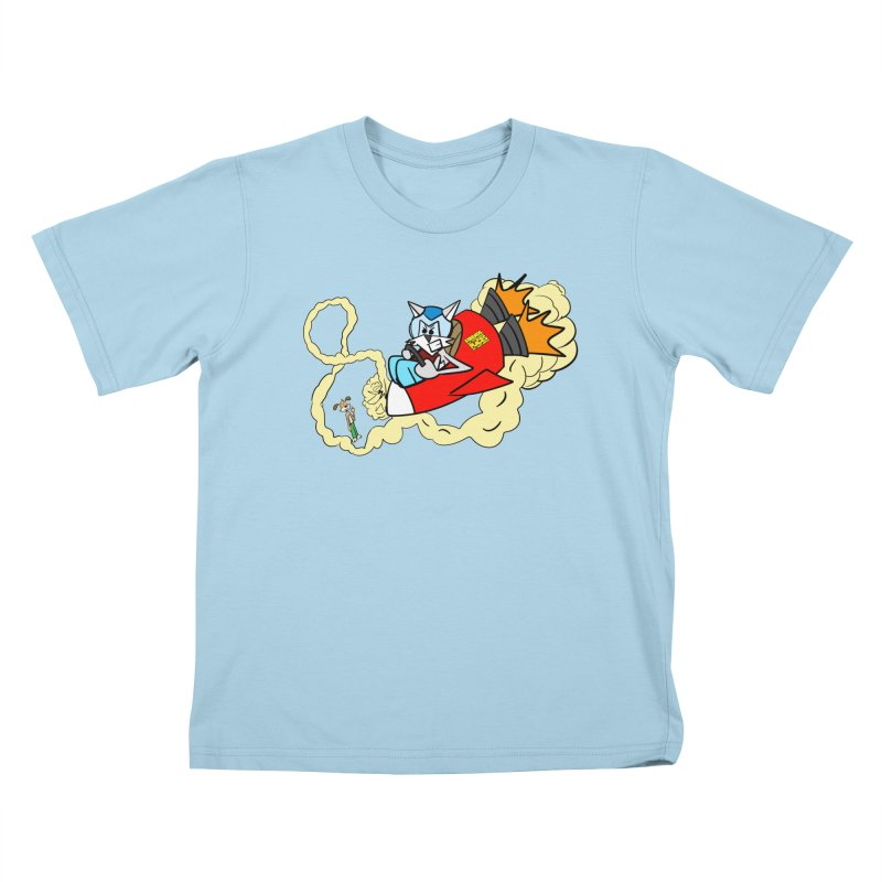 Rocket Who Kids T-Shirt by studiomogura's Artist Shop