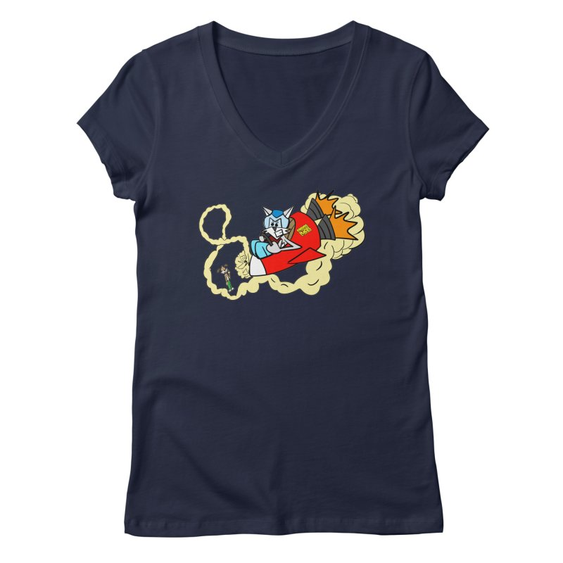 Rocket Who Women's V-Neck by studiomogura's Artist Shop