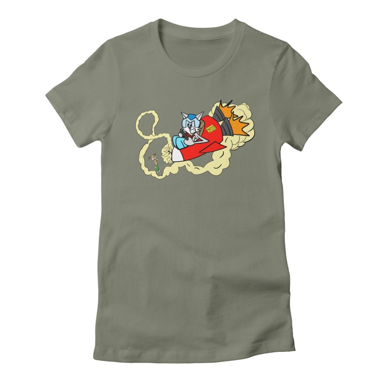 Rocket Who Women's Fitted T-Shirt by studiomogura's Artist Shop