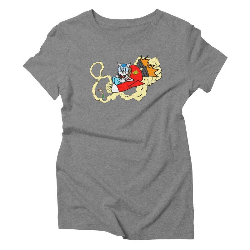 Rocket Who Women's Triblend T-shirt by studiomogura's Artist Shop
