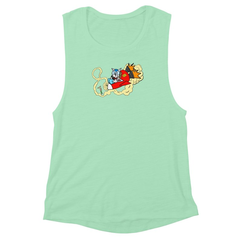 Rocket Who Women's Muscle Tank by studiomogura's Artist Shop