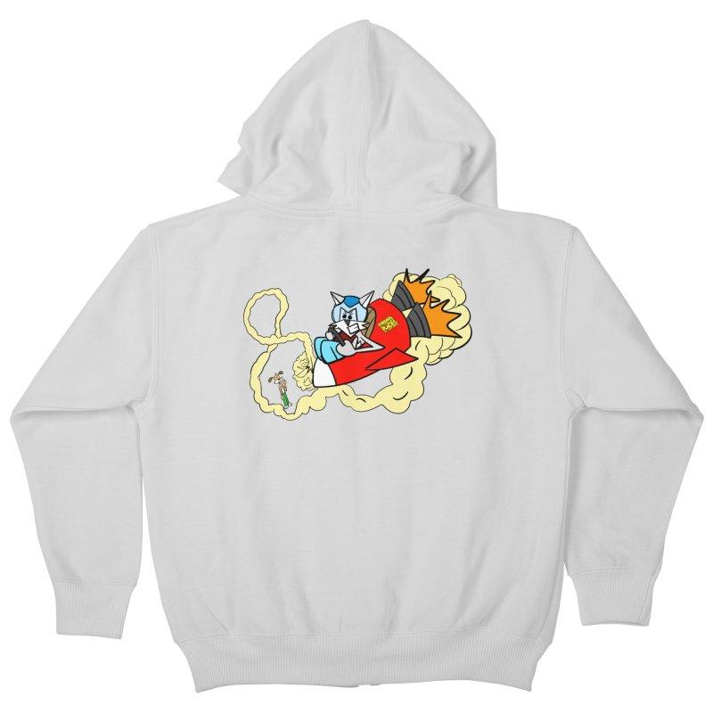 Rocket Who Kids Zip-Up Hoody by studiomogura's Artist Shop