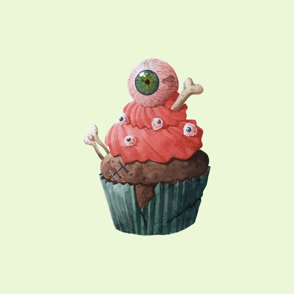 Design for Monsterlicious - Zombie Cupcake