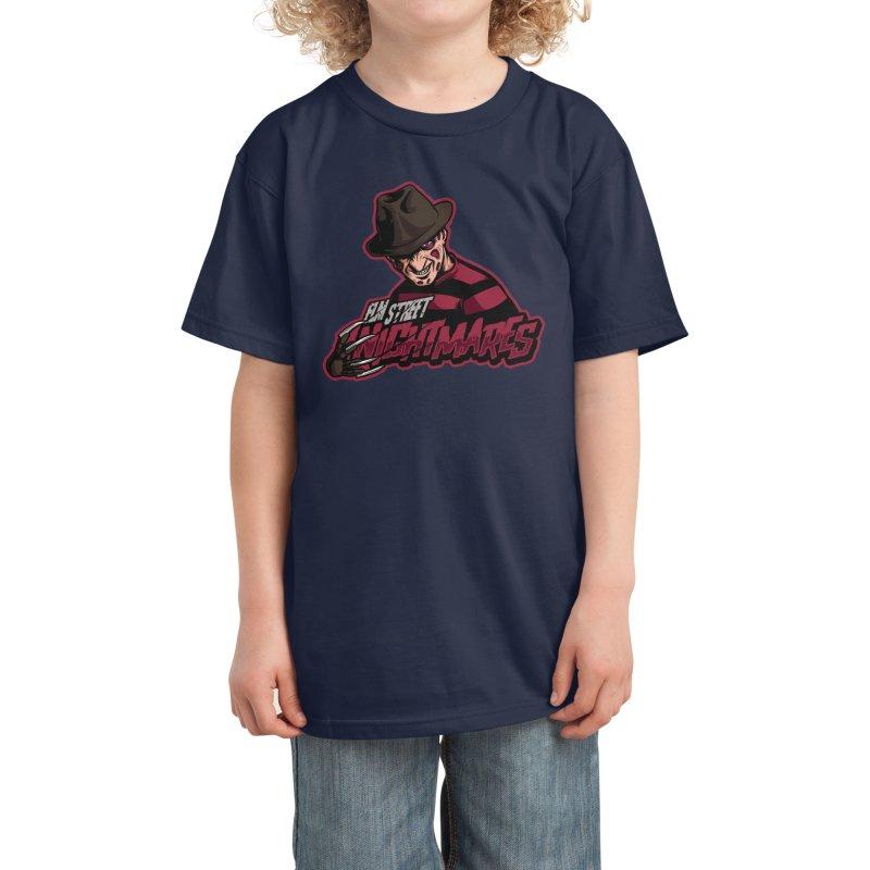 Elm Street Nightmares Kids T-Shirt by Studio Mootant's Artist Shop