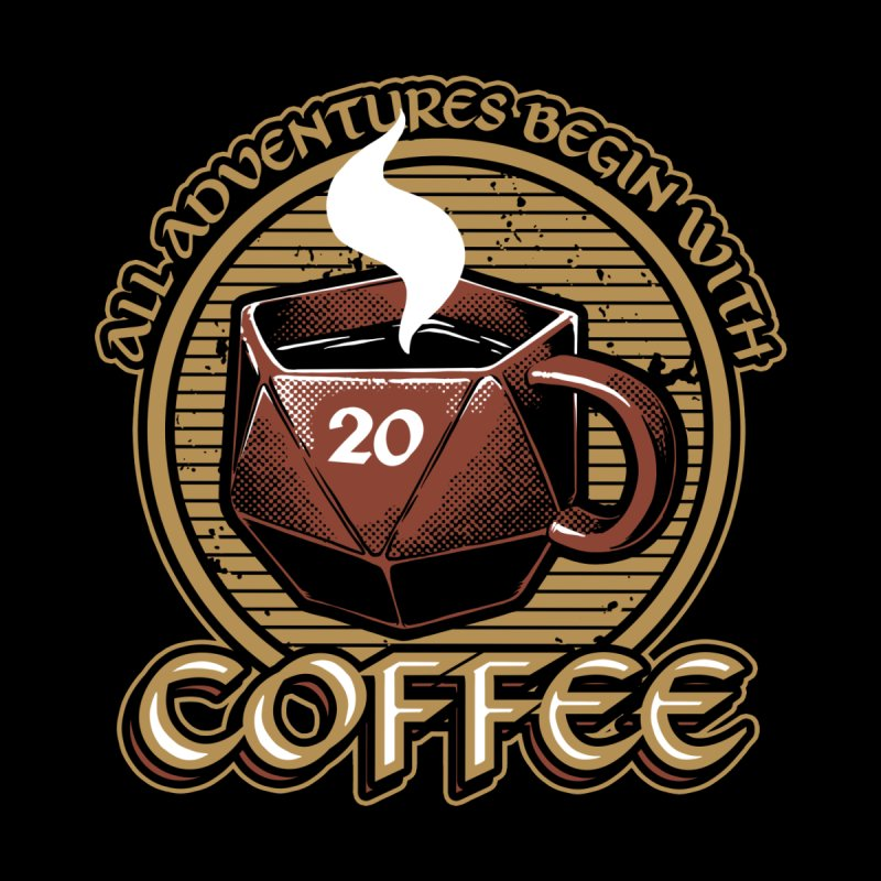 RPG - All adventures begin with coffee Men's T-Shirt by Studio Mootant's Artist Shop