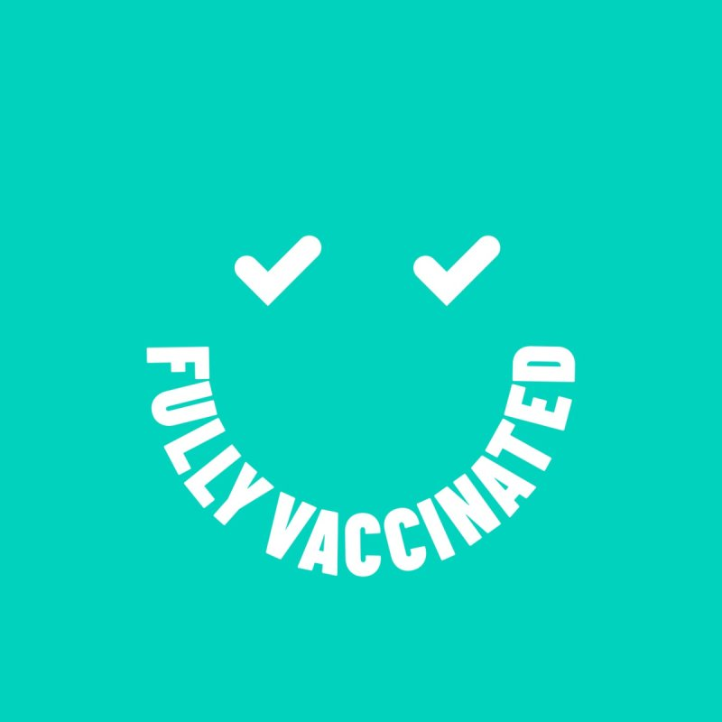 Fully Vaccinated Smiley Men's T-Shirt by Studioriks