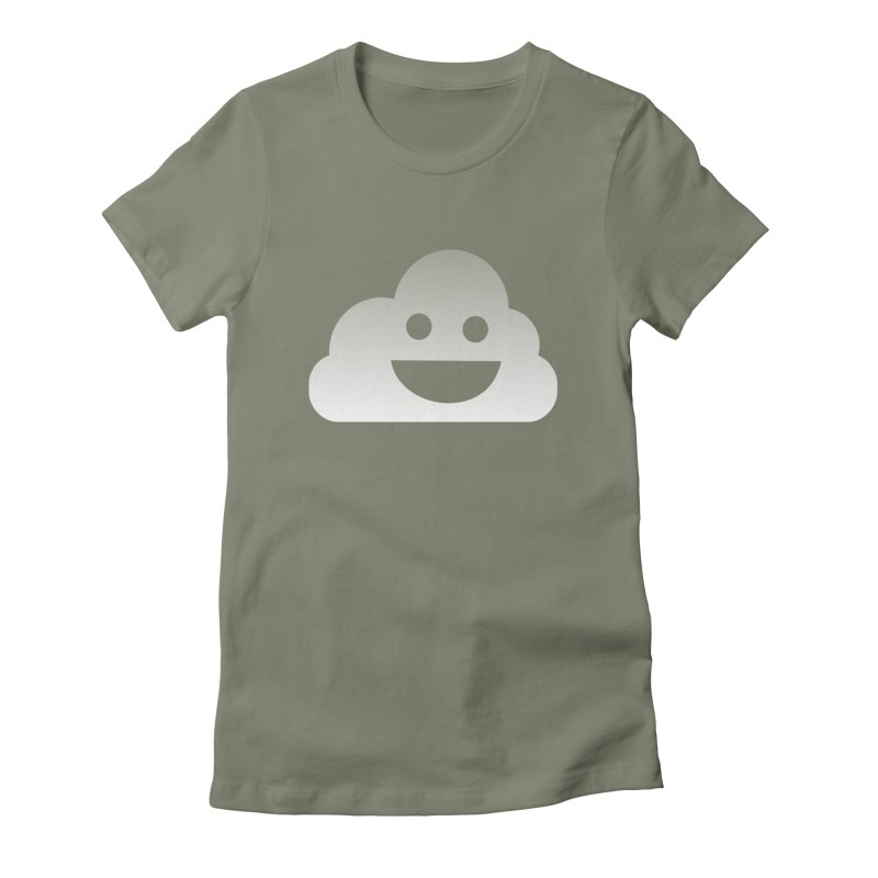 Happy Cloud Women's Fitted T-Shirt by Studio S
