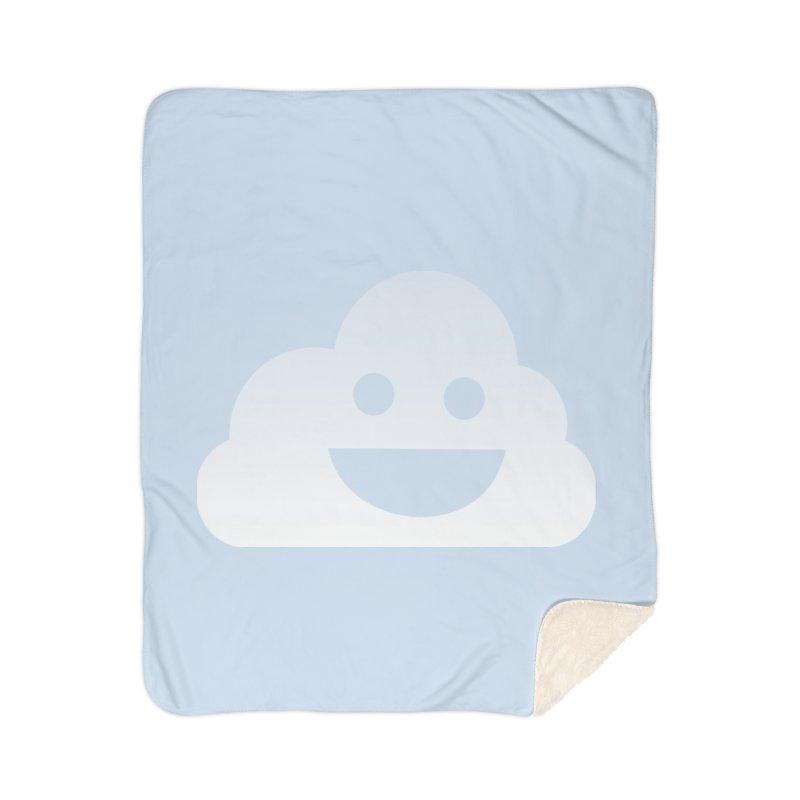 Happy Cloud Home Sherpa Blanket Blanket by Studio S