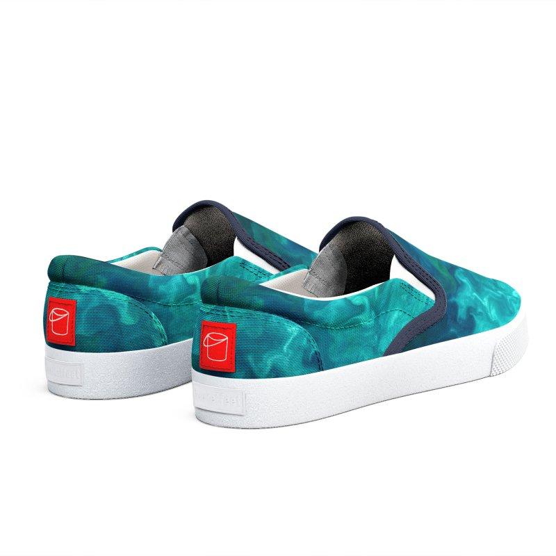 Green Sea Water Men's Shoes by Studio Vickn Artist Shop