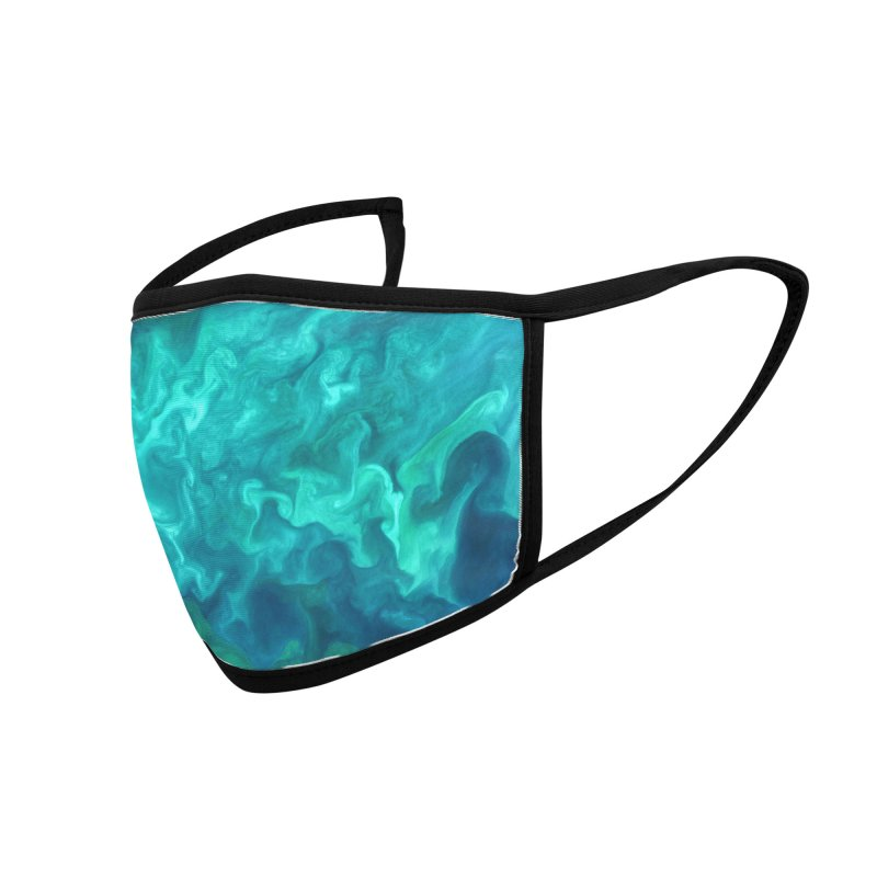 Green Sea Water Accessories Face Mask by Studio Vickn Artist Shop