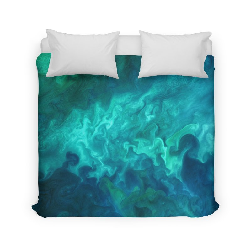Green Sea Water Home Duvet by Studio Vickn Artist Shop
