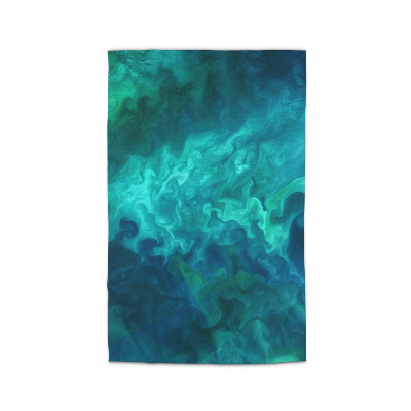 Green Sea Water Home Rug by Studio Vickn Artist Shop