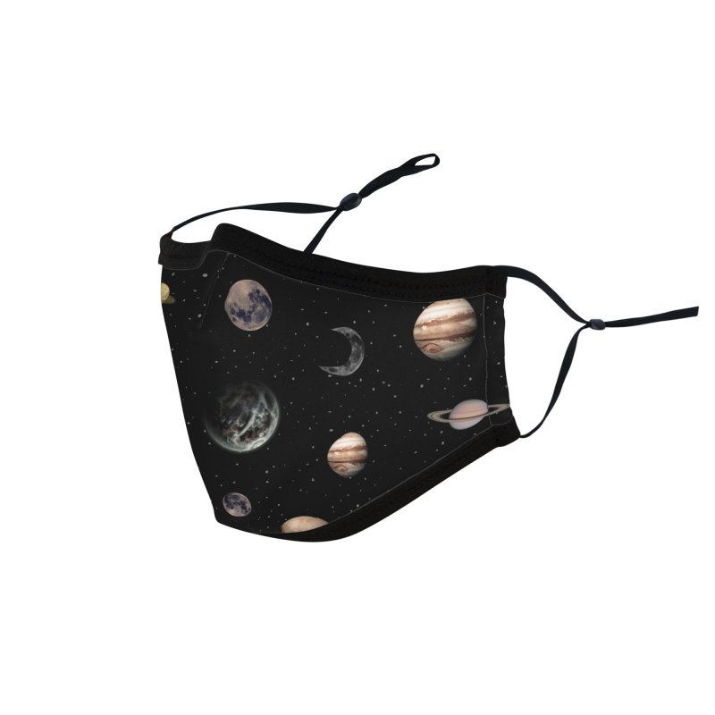 Planets Accessories Face Mask by Studio Vickn Artist Shop