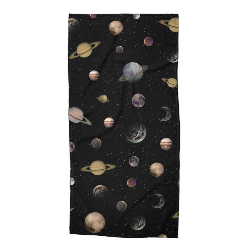 Planets Accessories Beach Towel by Studio Vickn Artist Shop