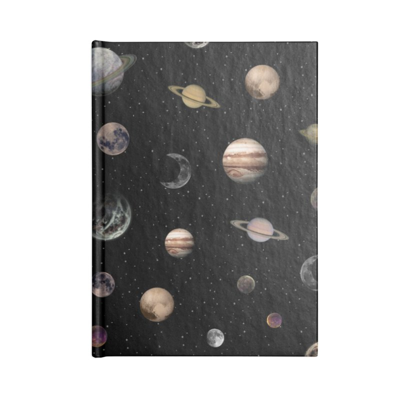Planets Accessories Notebook by Studio Vickn Artist Shop