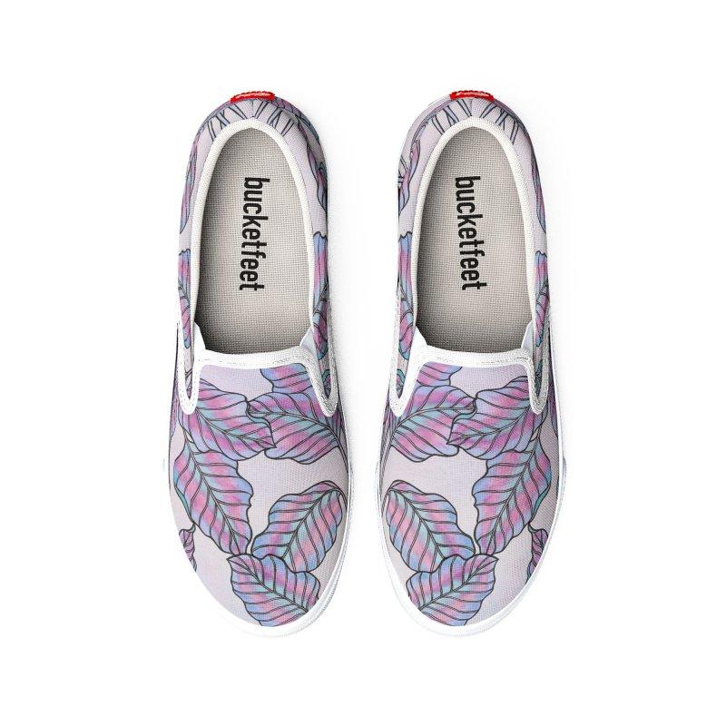 Colorful Caladium Plant Men's Shoes by Studio Vickn Artist Shop
