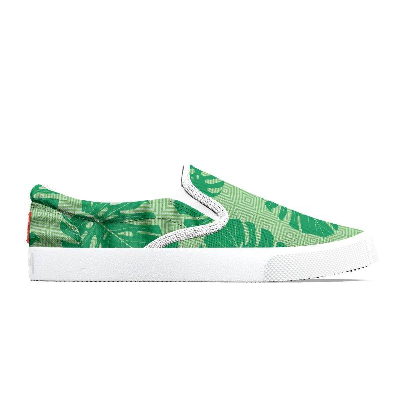 Tropical Geometric Green Women's Shoes by Studio Vickn Artist Shop