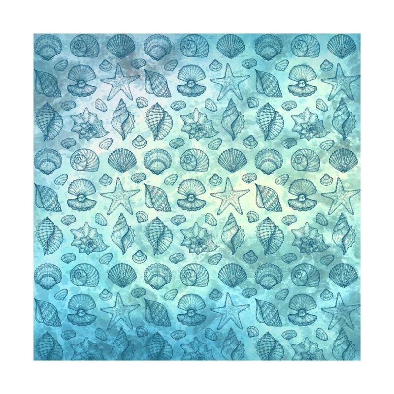 Blue Seashells Accessories Zip Pouch by Studio Vickn Artist Shop