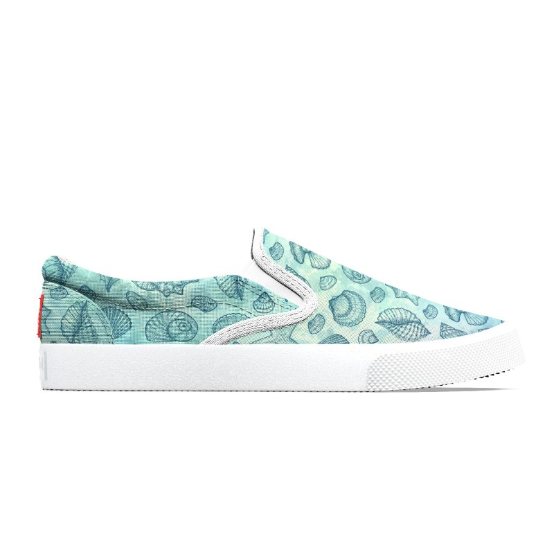Blue Seashells Women's Shoes by Studio Vickn Artist Shop