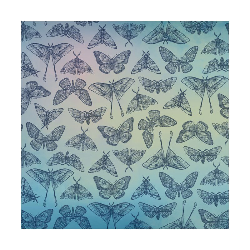 Lepidoptera Blue Accessories Face Mask by Studio Vickn Artist Shop