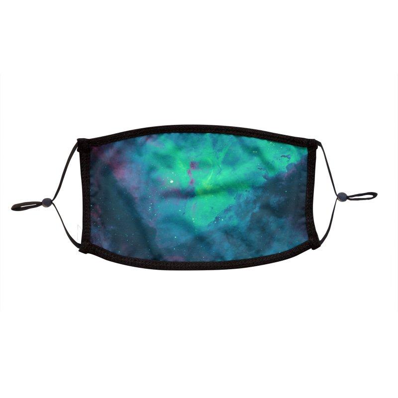 Nebula Oceanic Accessories Face Mask by Studio Vickn Artist Shop
